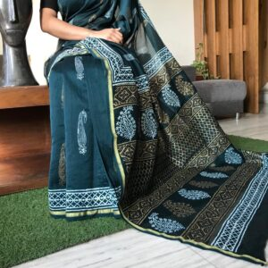 Women's Chanderi Silk Saree with Blouse