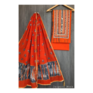 Pure Cotton Hand Block Printed Suit Sets with Jaipuri Kota Patti Work