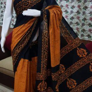 Women's Pure Soft Cotton Hand Work Sarees