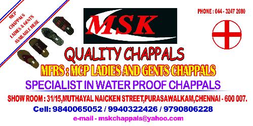 MSK Quality Chappals